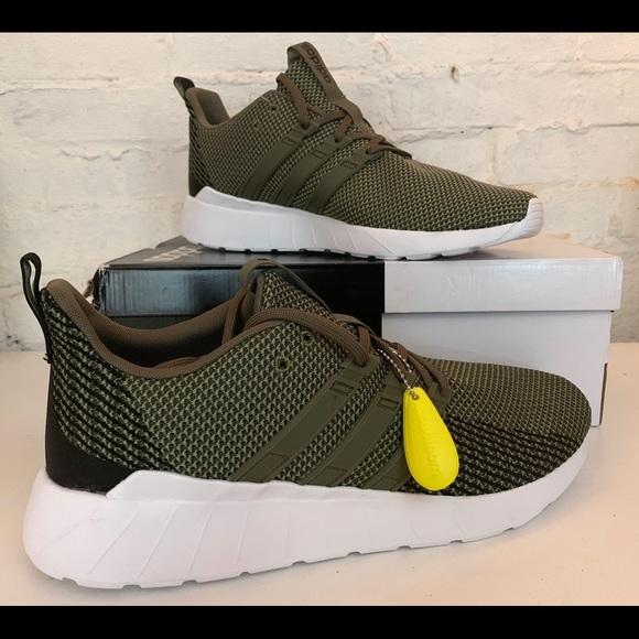Adidas Mens Questar Green Shoes Sz 3